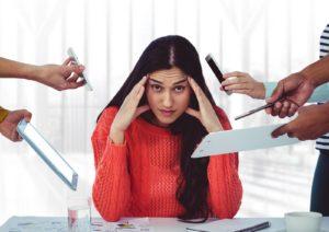photo d'une femme stressée